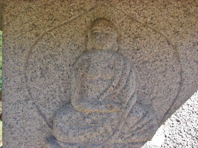 Detail on the temple statue