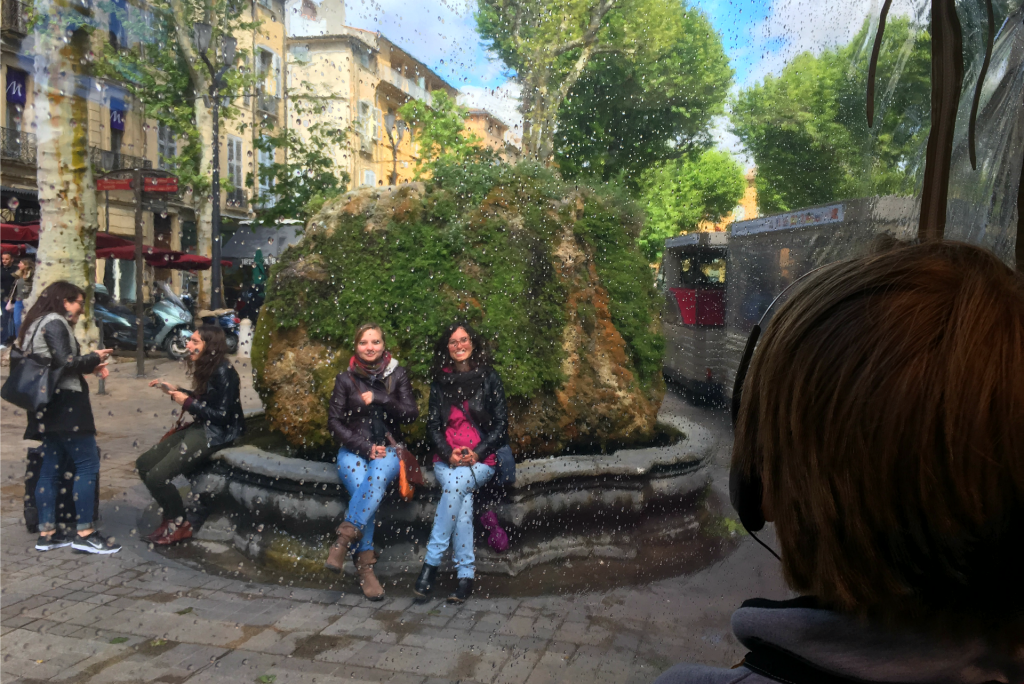 The tourist train in Aix-en-Provence is a great way to see the town.