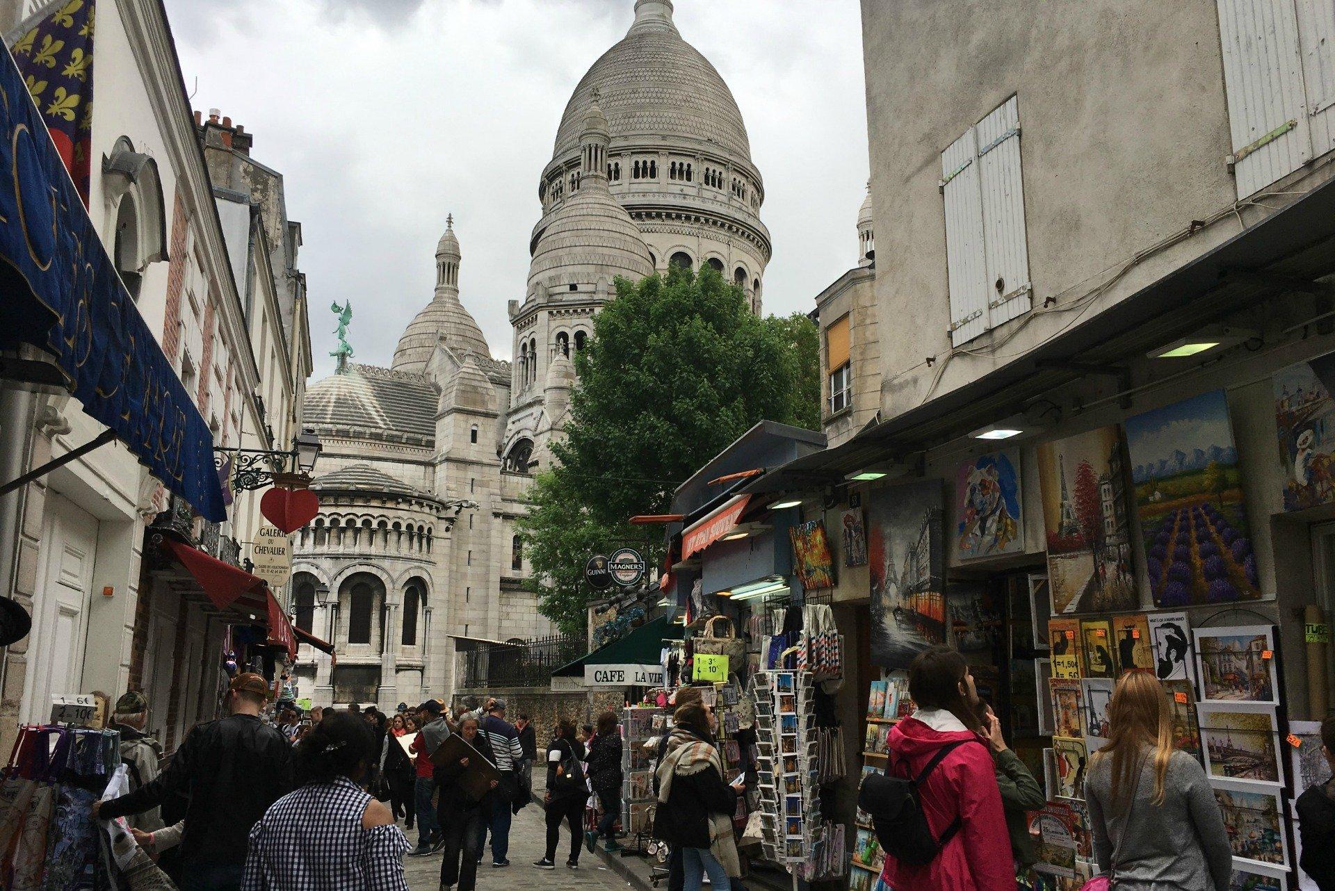 Visiting the Sacre Coeur in Paris