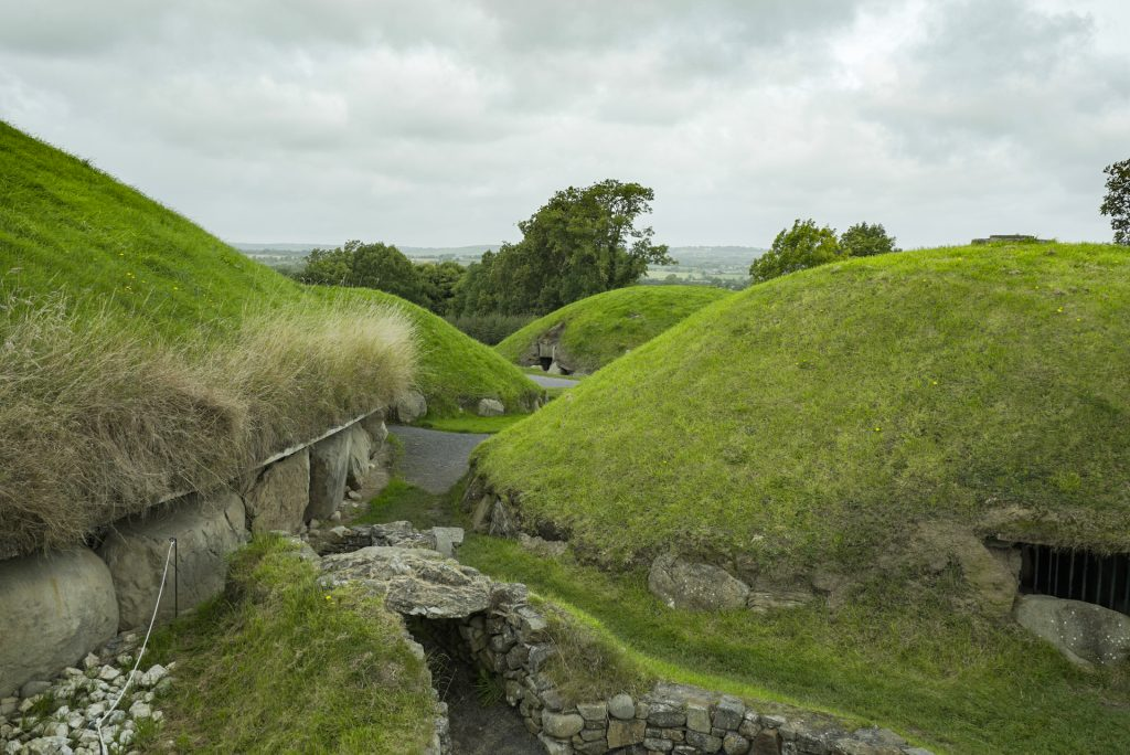 Knowth has lots of smaller burial mounds