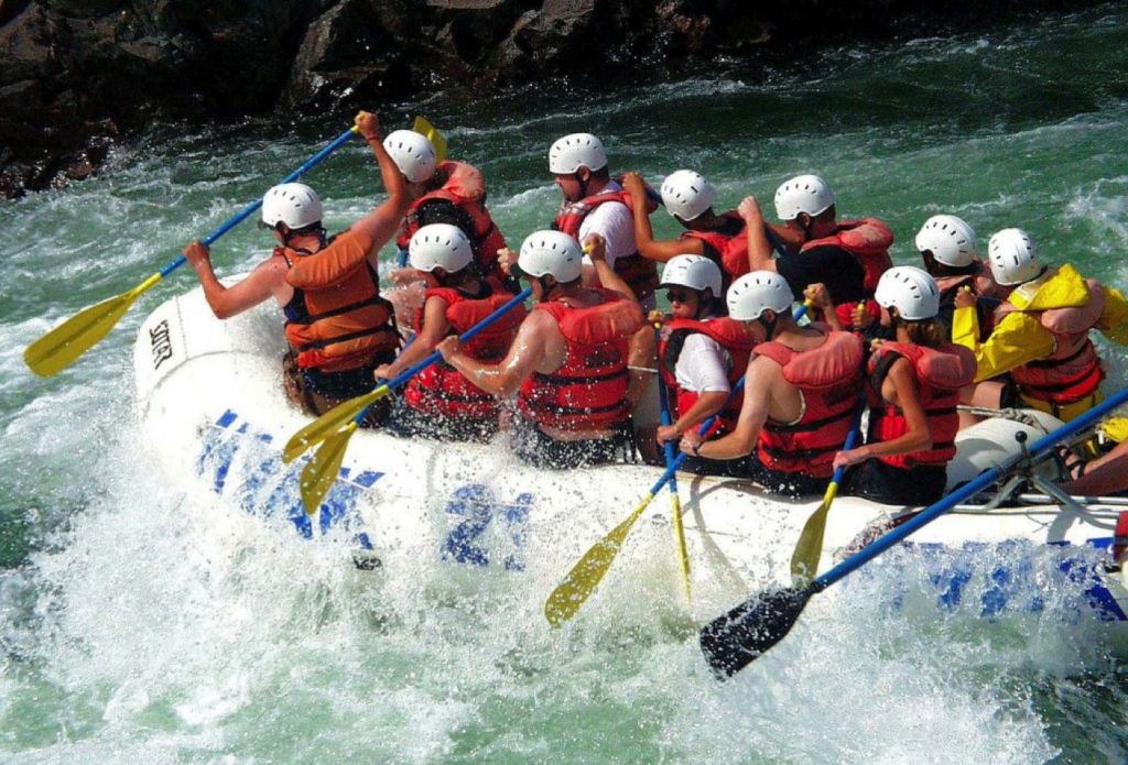 Whitewater rafting in China