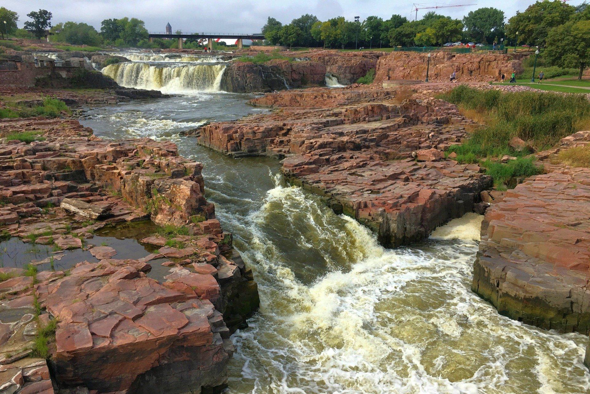 The falls at Sioux Falls SD